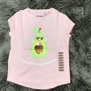 Manguun | Girl's T-shirt | Pink | Avocado | Sequin